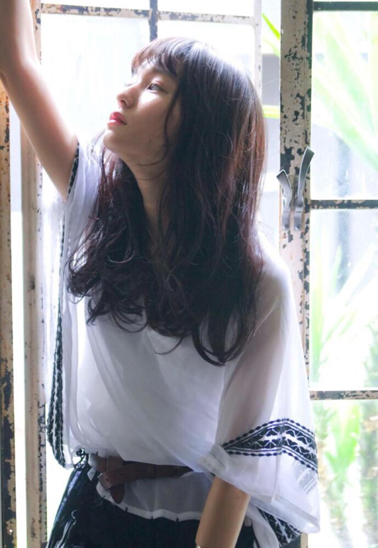 フェミニン ナチュラル ゆるふわ 暗髪 ヘアスタイルや髪型の写真・画像   西山 頌太 / ROJITHA