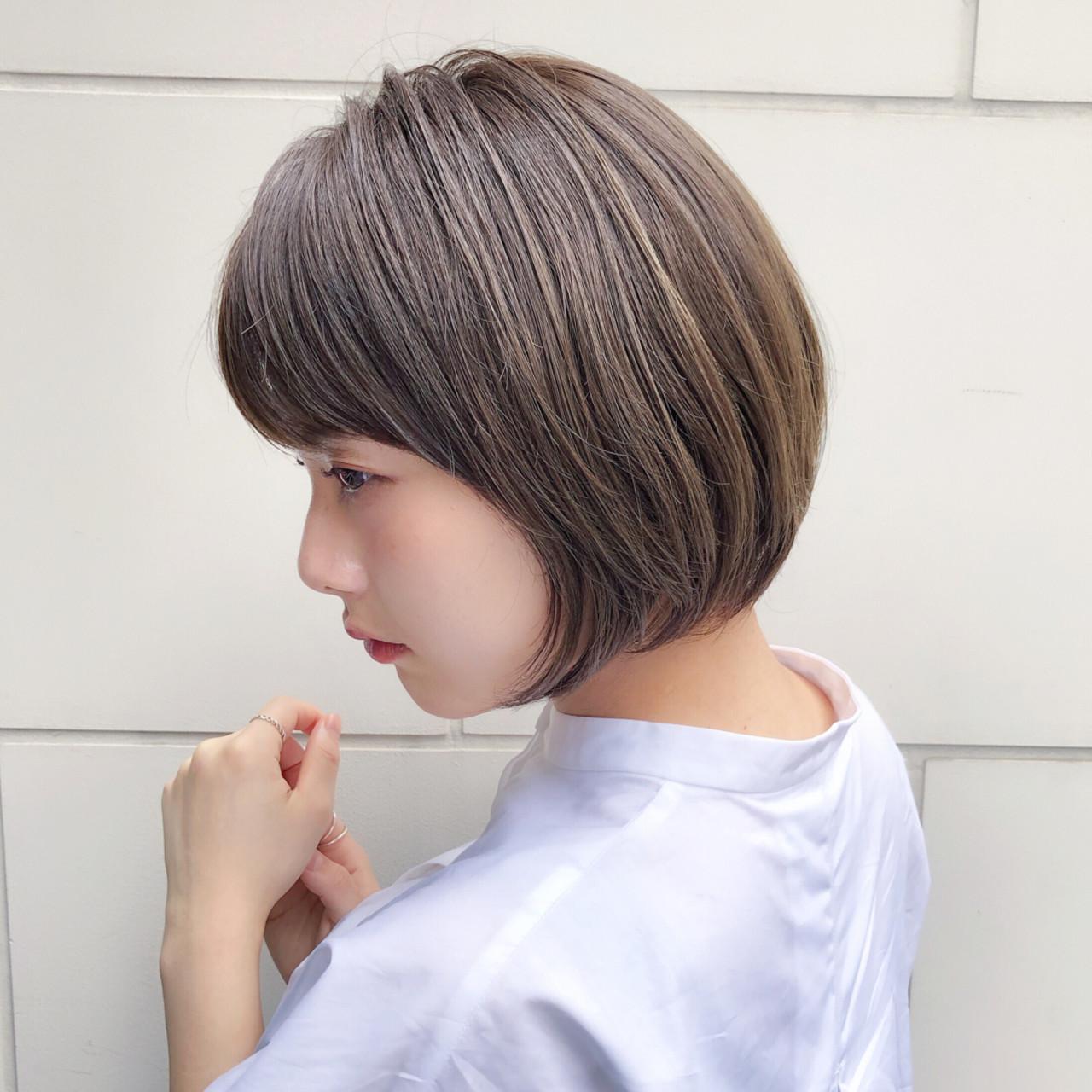 モテボブ ナチュラル ボブ パーマ ヘアスタイルや髪型の写真・画像 | 趙 英来 (よん) / nex