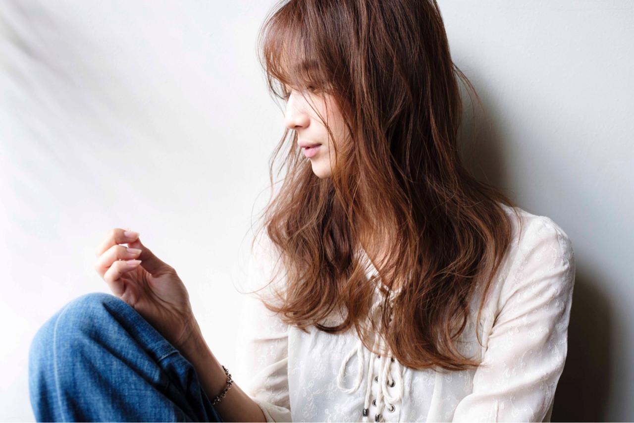 大人女子 こなれ感 ナチュラル ロング ヘアスタイルや髪型の写真・画像 | 山口純一郎 / hair design Sola