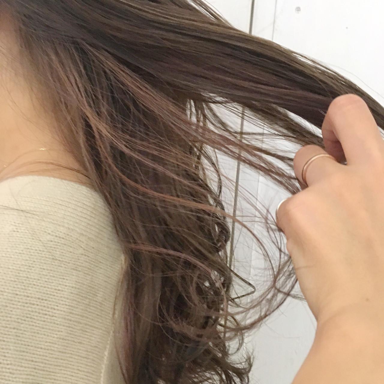 インナーカラー グラデーションカラー ゆるふわ ベージュ ヘアスタイルや髪型の写真・画像