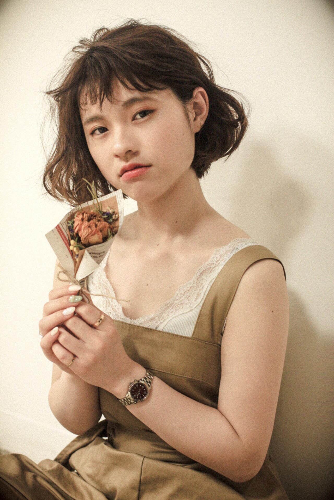 ナチュラル 切りっぱなし 色気 ゆるふわ ヘアスタイルや髪型の写真・画像 | 伊藤春香 / SAMURAI