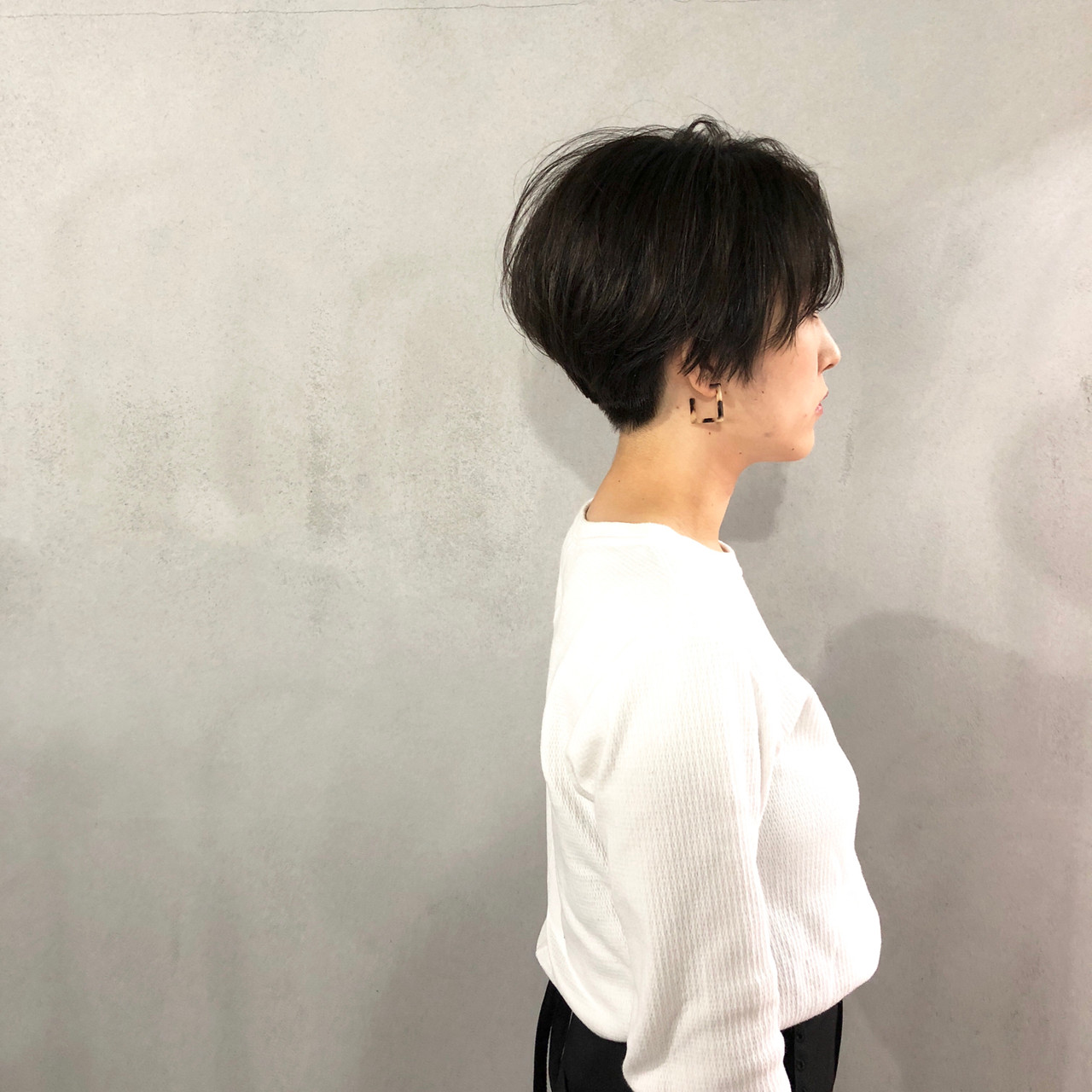 ナチュラル マッシュ マッシュショート 刈り上げ女子 ヘアスタイルや髪型の写真・画像