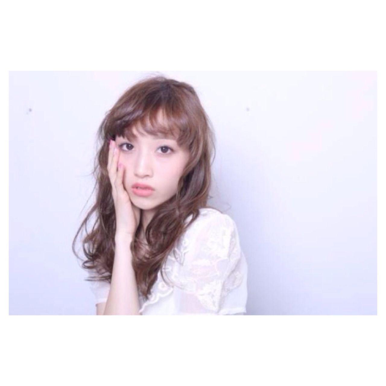 暗髪 ウェーブ ナチュラル ウェットヘア ヘアスタイルや髪型の写真・画像 | 石元 歩唯 ( ishimoto ai ) /