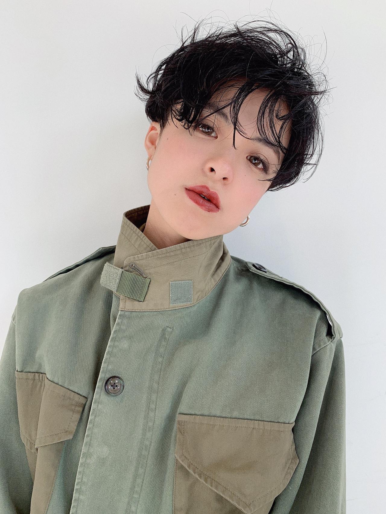 阿藤俊也 PEEK-A-BOO パーマ モード ヘアスタイルや髪型の写真・画像