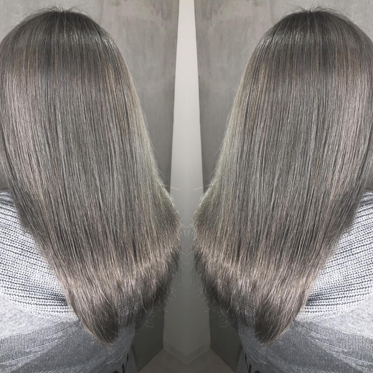 ハイライト ストリート グレージュ グラデーションカラー ヘアスタイルや髪型の写真・画像 | 筒井 隆由 / Hair salon mode