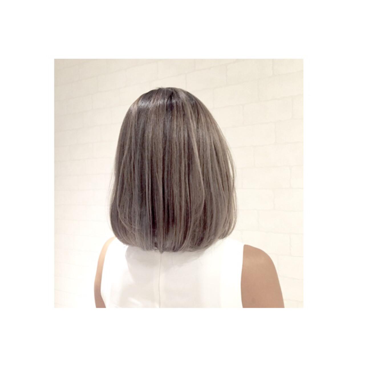 渋谷系 ボブ ハイライト ストリート ヘアスタイルや髪型の写真・画像 | AKI / park by merry / park by merry