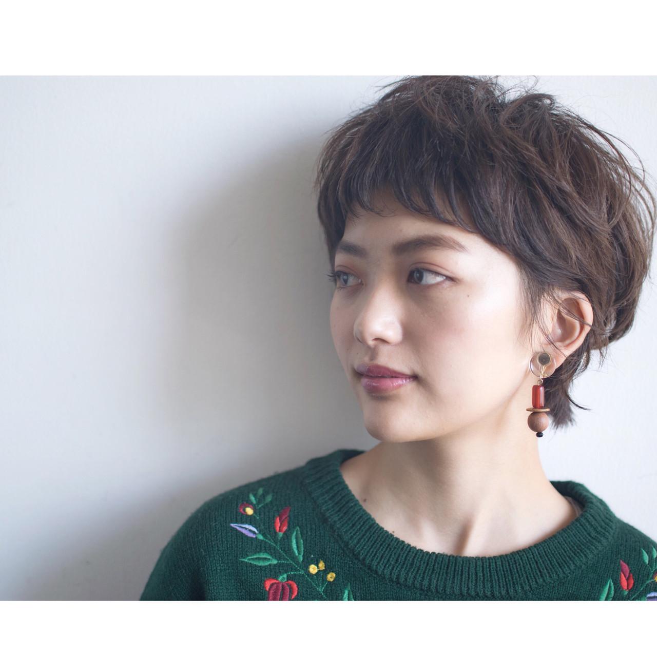 外ハネ ナチュラル マッシュ ショート ヘアスタイルや髪型の写真・画像 | anti_RIKUSHI / ANTI