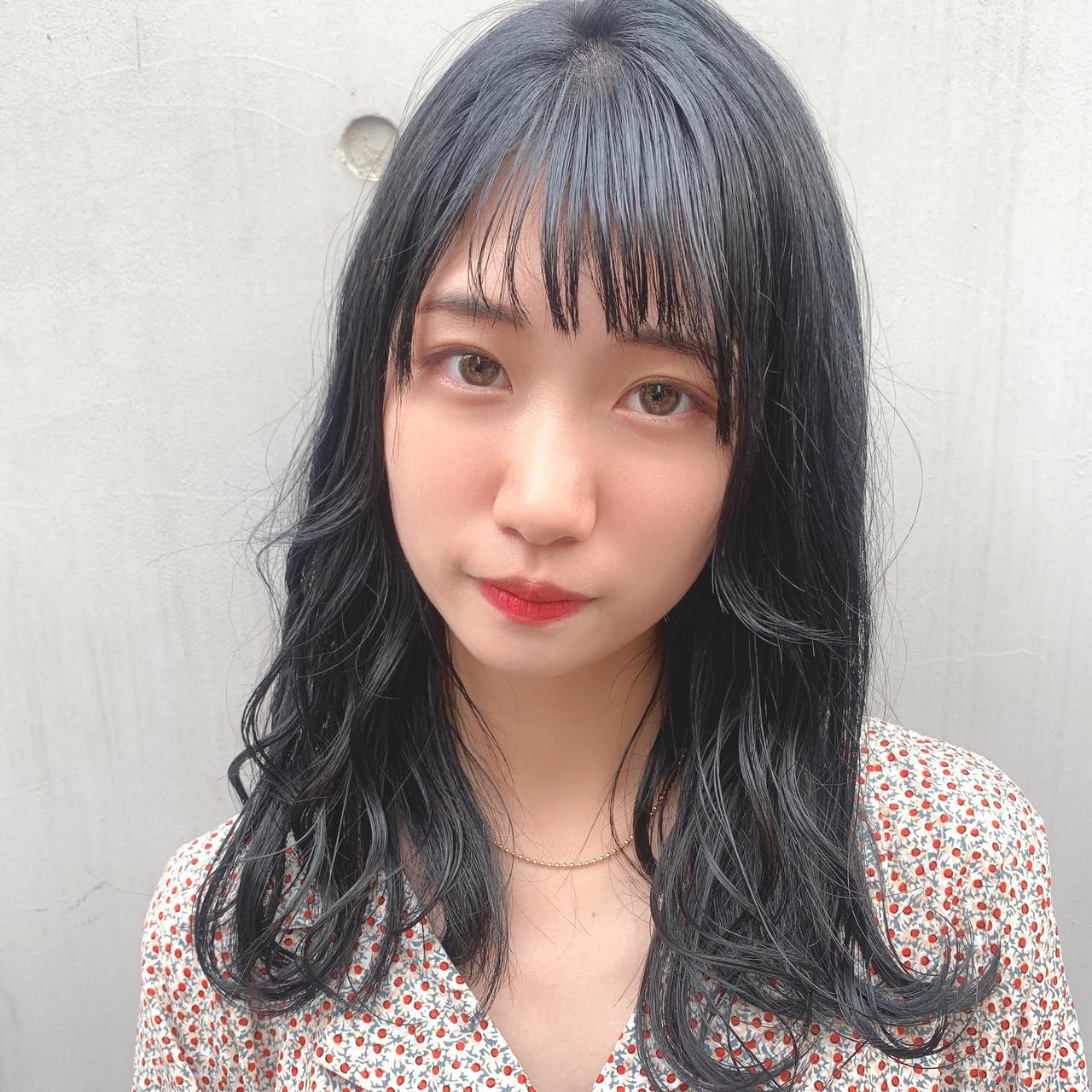 透明感カラー フェミニン 大人可愛い 黒髪 ヘアスタイルや髪型の写真・画像