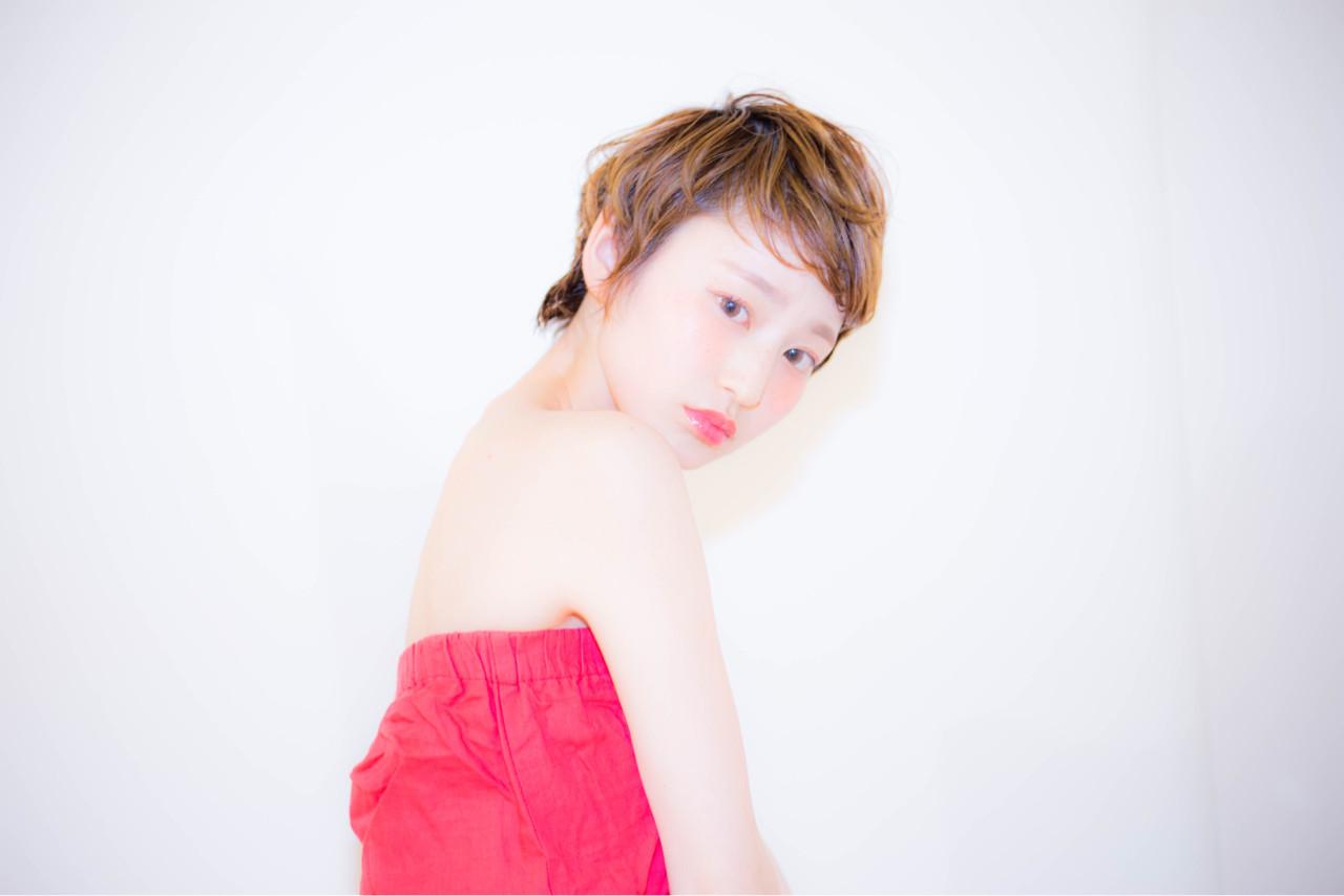 ピュア パーマ 外国人風 ショート ヘアスタイルや髪型の写真・画像