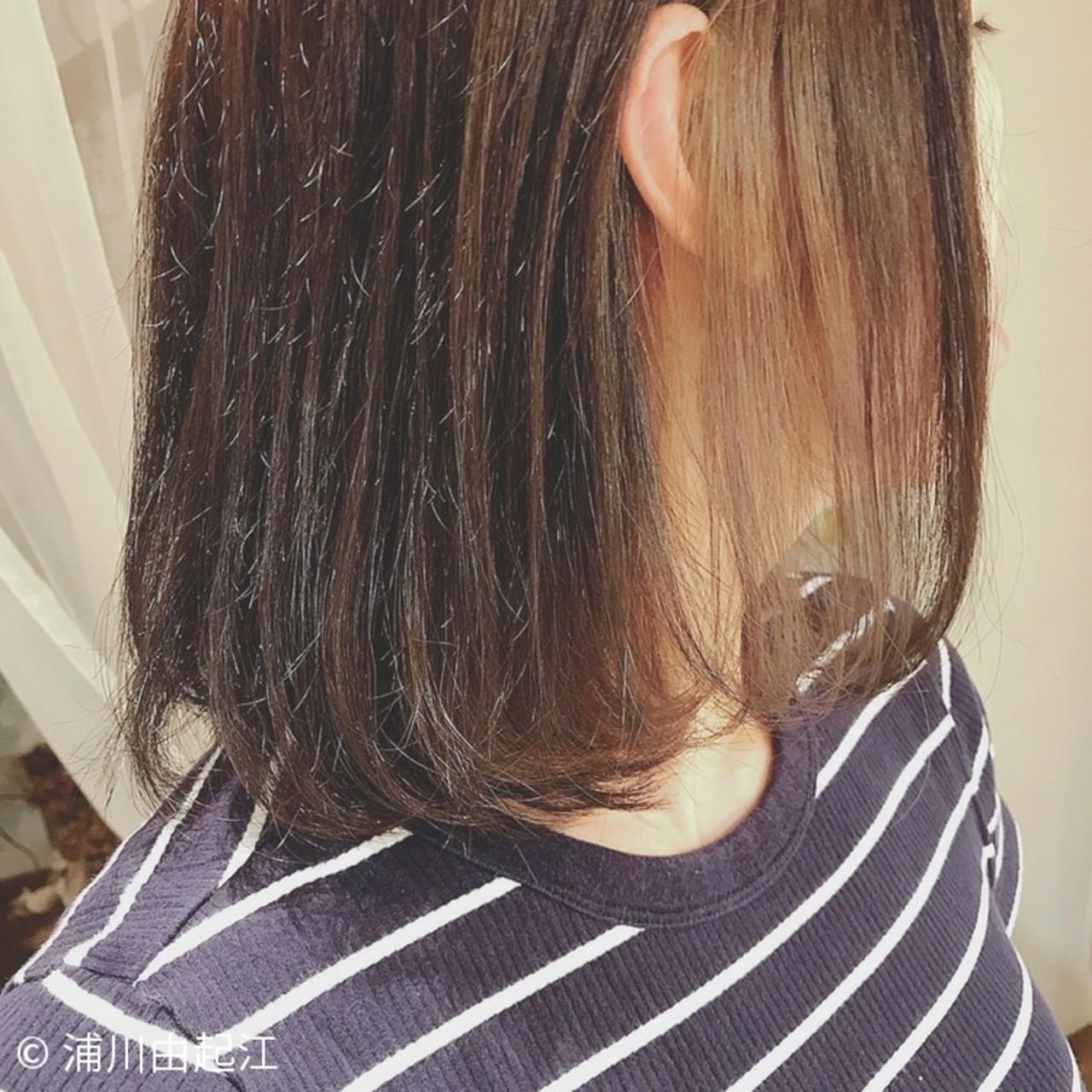 ゆるふわ デート 大人かわいい ナチュラル ヘアスタイルや髪型の写真・画像 | 浦川由起江 / nanon