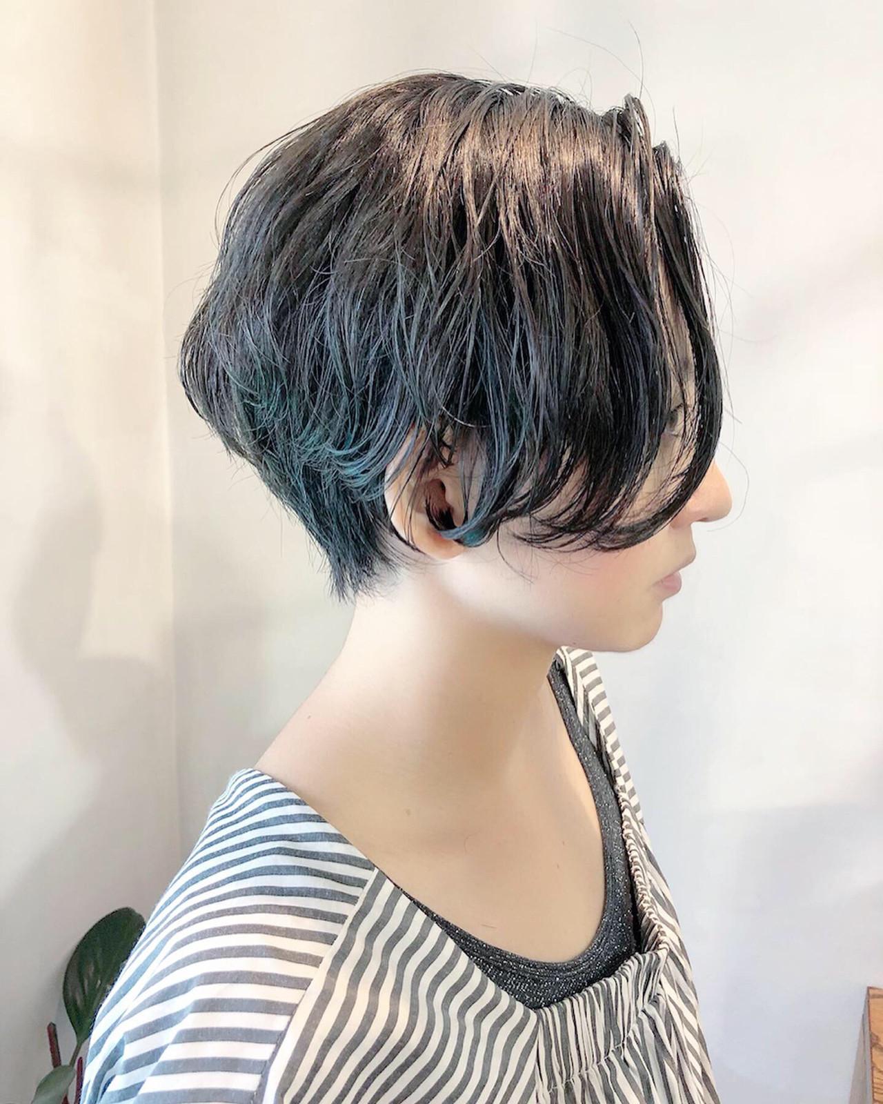 ハンサムショート モード ショート デート ヘアスタイルや髪型の写真・画像