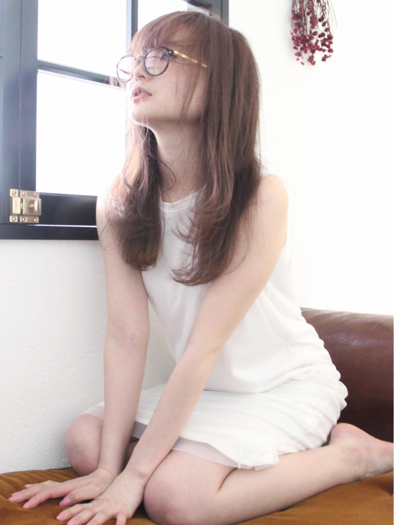 透明感 フェミニン ロング ゆるふわ ヘアスタイルや髪型の写真・画像