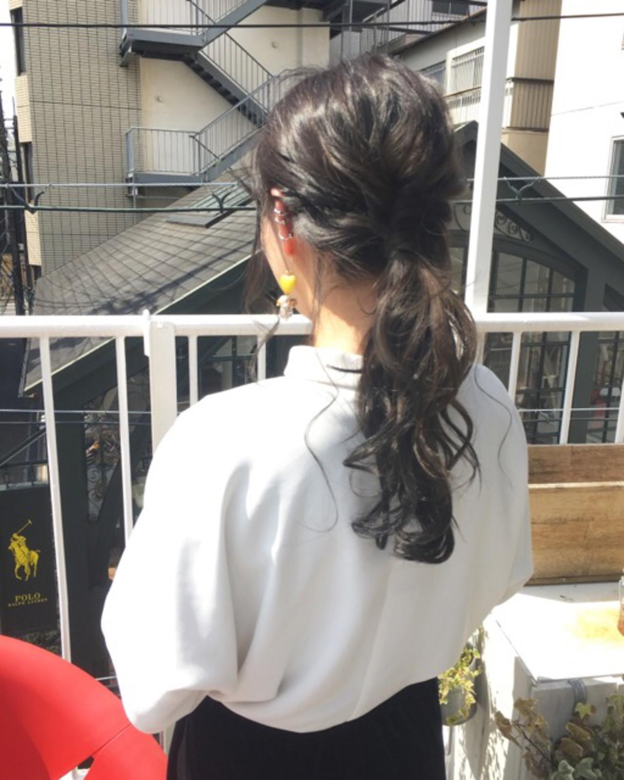 結婚式 ヘアアレンジ オフィス デート ヘアスタイルや髪型の写真・画像