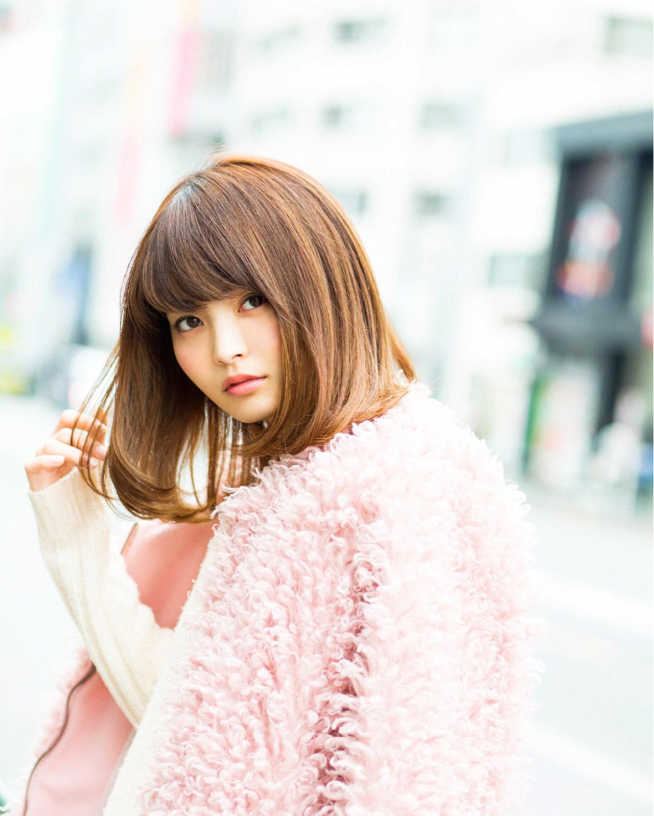 小顔 ガーリー 色気 ゆるふわ ヘアスタイルや髪型の写真・画像