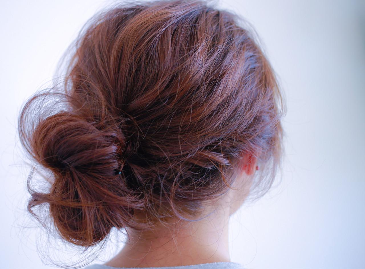 ヘアアレンジ ゆるふわ ナチュラル フェミニン ヘアスタイルや髪型の写真・画像 | 小笠原 淳 / hair make No.8(ヘアメイクエイト)