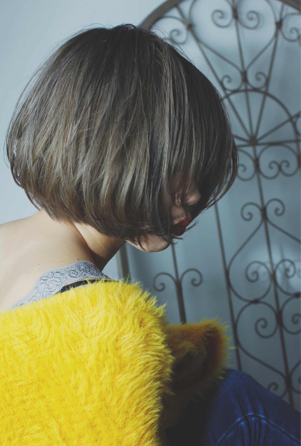 モード ボブ ニュアンス 愛され ヘアスタイルや髪型の写真・画像 | 公平 / SR in the room
