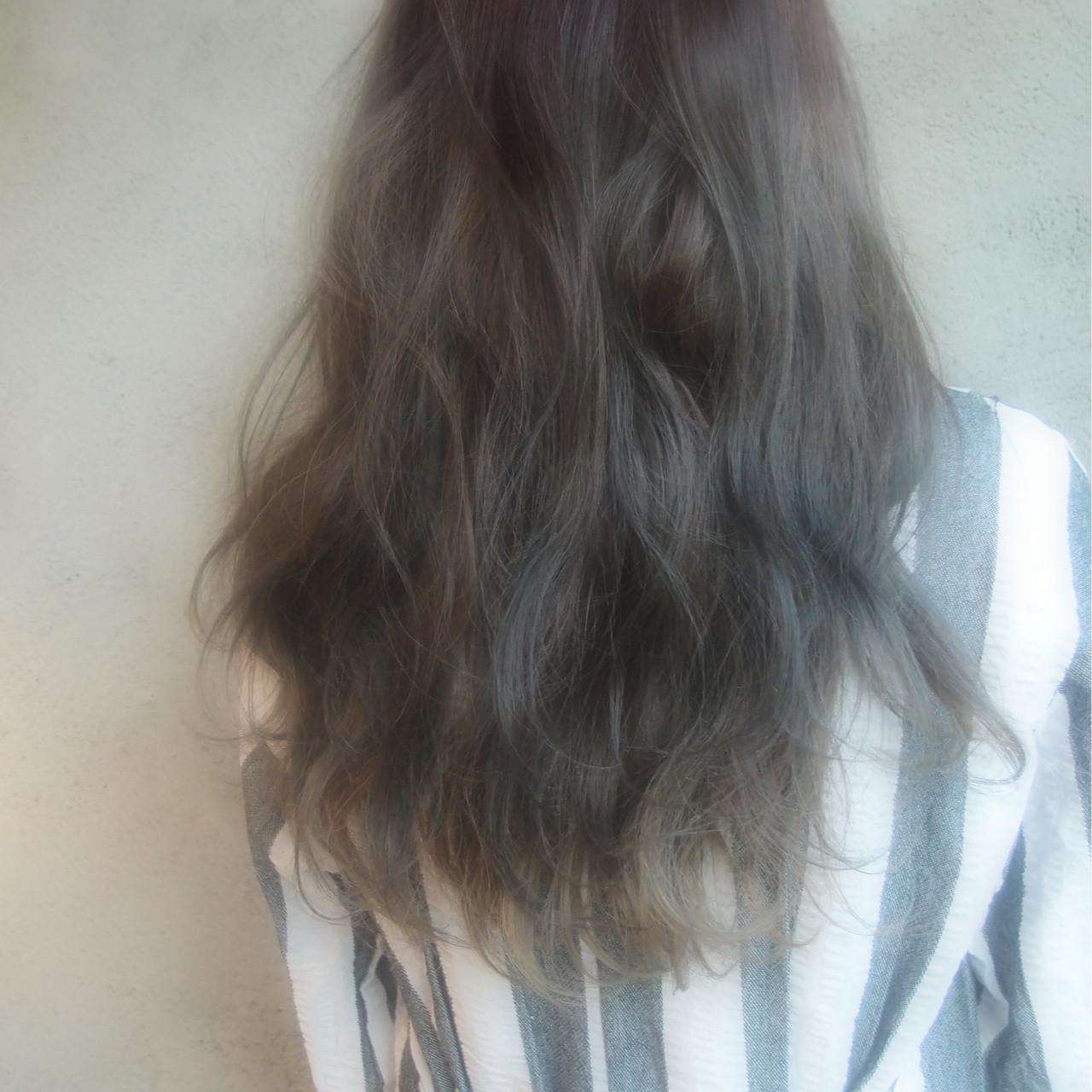 ハイライト 外国人風 ゆるふわ ダブルカラー ヘアスタイルや髪型の写真・画像