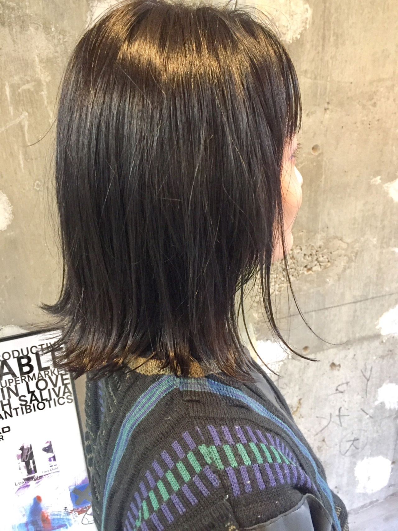 ニュアンス 黒髪 切りっぱなし ストリート ヘアスタイルや髪型の写真・画像 | 上硲耕太 / geek