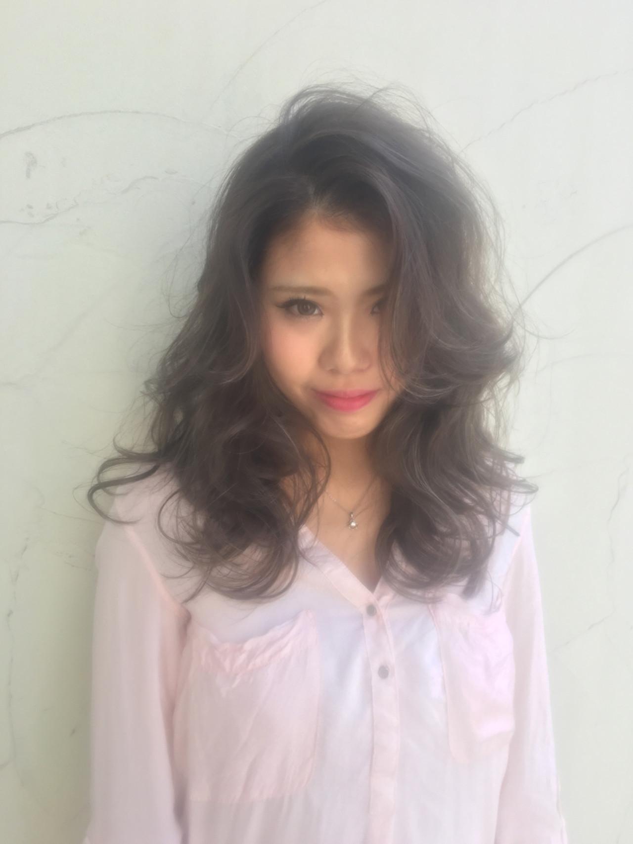 外国人風 セミロング 渋谷系 ハイライト ヘアスタイルや髪型の写真・画像 | 橋口 武史 RBY blanc / RBY blanc
