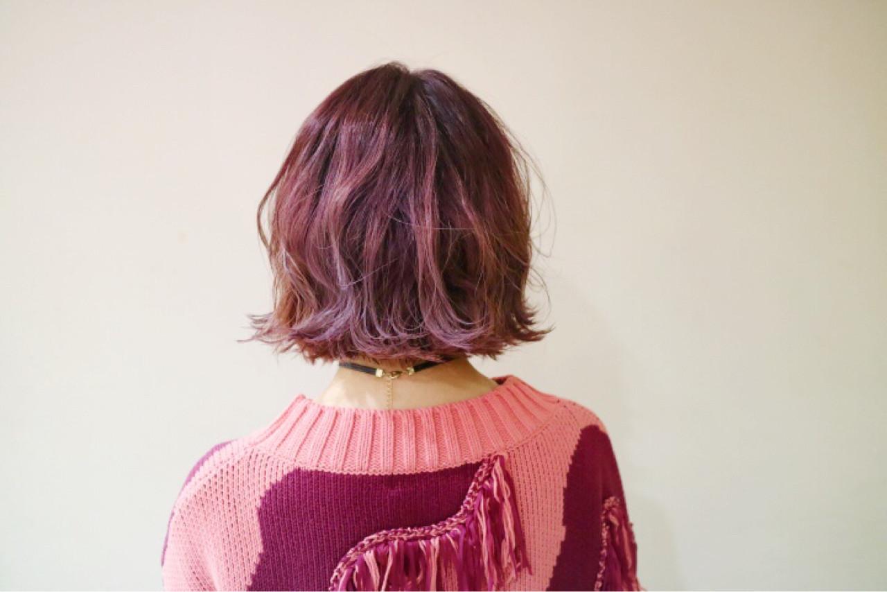 色気 フェミニン ボブ デート ヘアスタイルや髪型の写真・画像 | 佐伯 優 / e.m.a ASSORT