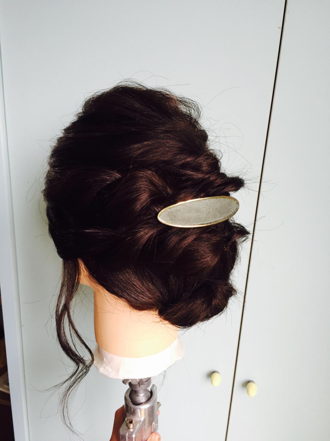 パーティ フェミニン ヘアアレンジ 結婚式 ヘアスタイルや髪型の写真・画像
