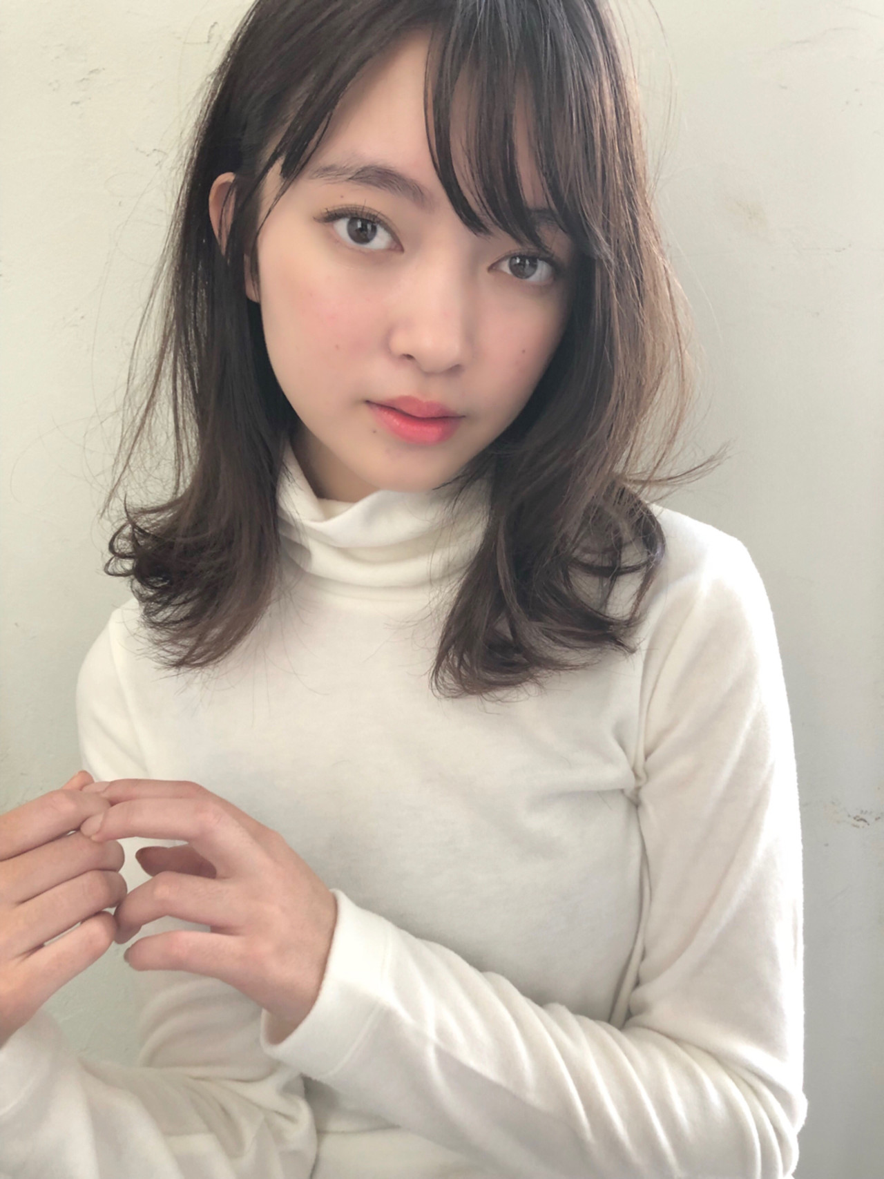 ミディアム こなれ感 ヘアアレンジ 外ハネ ヘアスタイルや髪型の写真・画像 | ナガヤ アキラ joemi 新宿 / joemi by Un ami