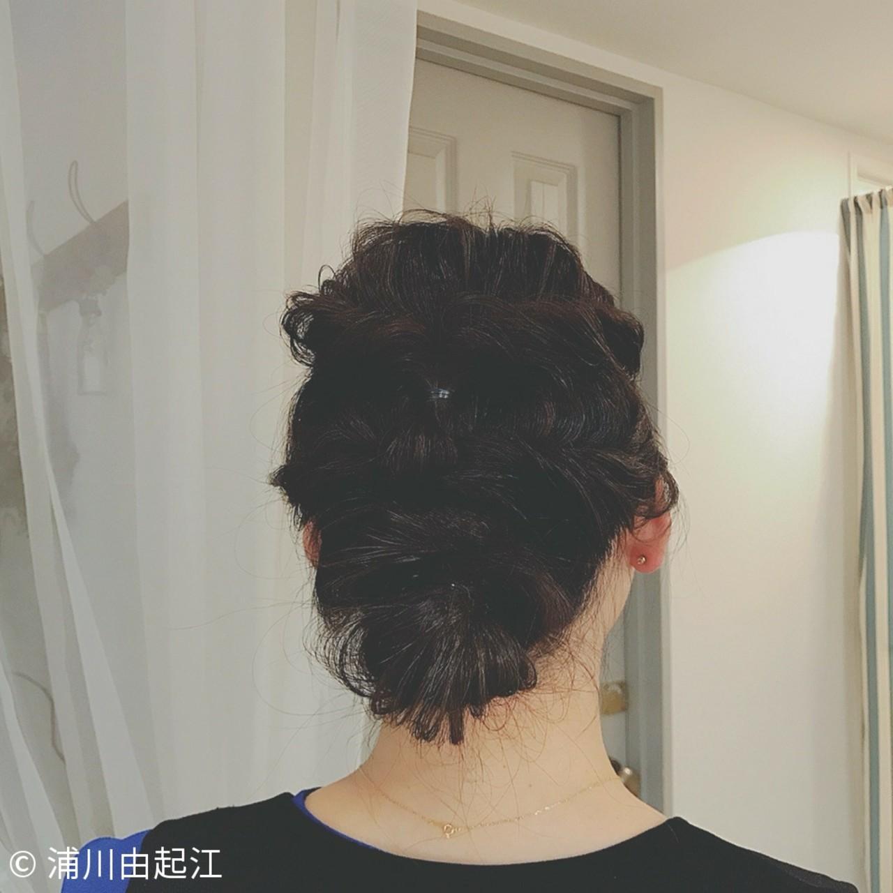 パーティ 結婚式 大人かわいい ゆるふわ ヘアスタイルや髪型の写真・画像 | 浦川由起江 / nanon