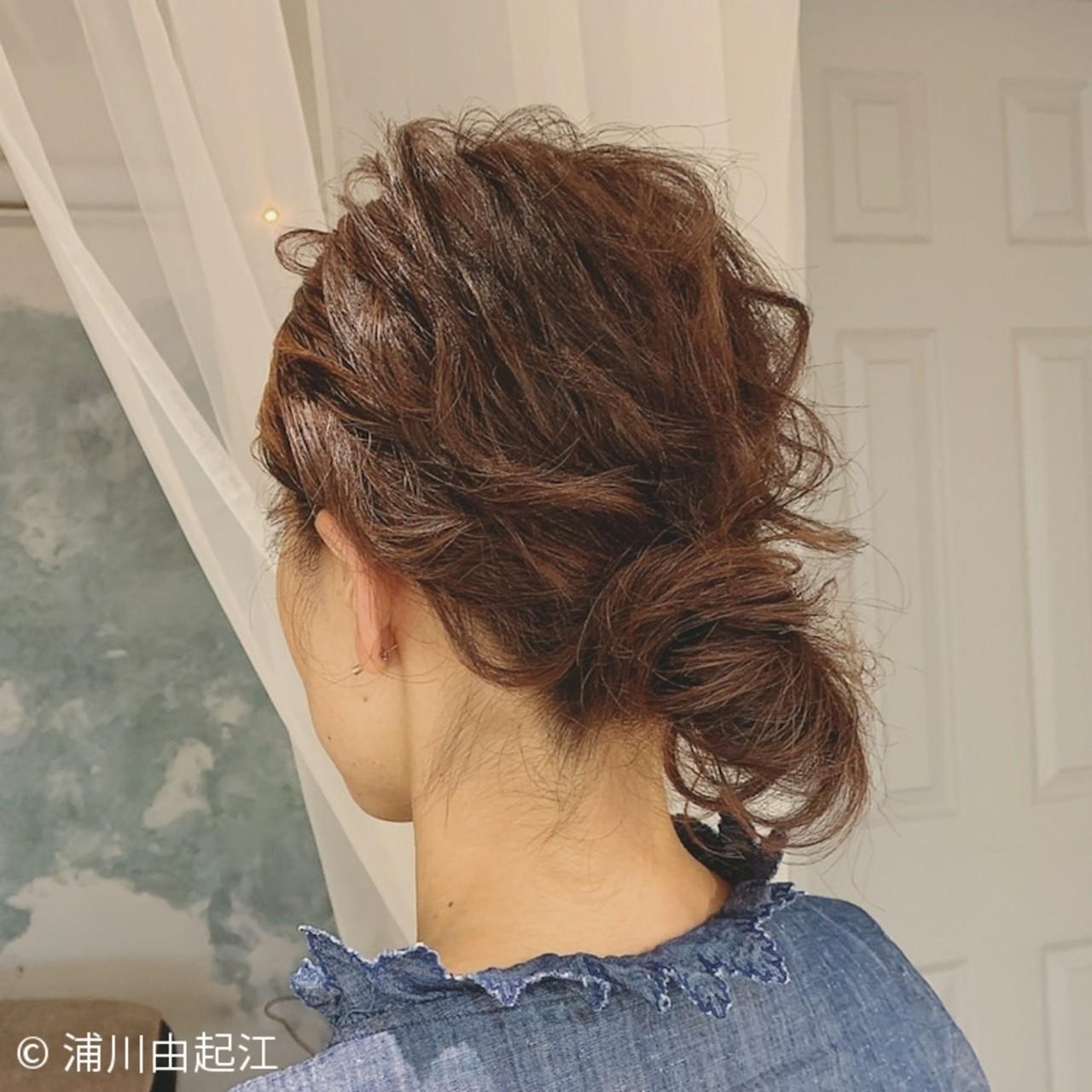 ヘアアレンジ パーティ 大人かわいい ナチュラル ヘアスタイルや髪型の写真・画像 | 浦川由起江 / nanon