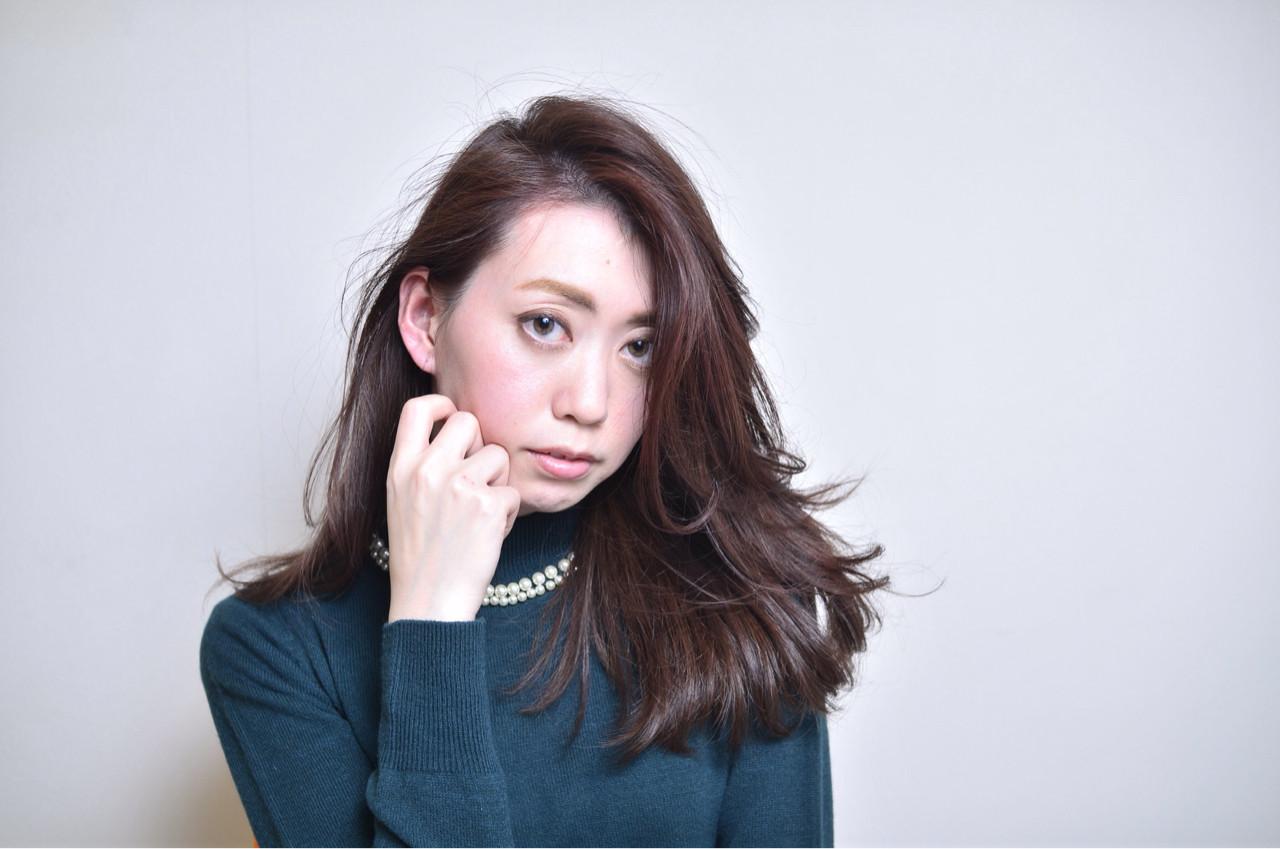 暗髪 パーマ 前髪あり コンサバ ヘアスタイルや髪型の写真・画像 | 友田 徳政 / Hair dressing Bis!