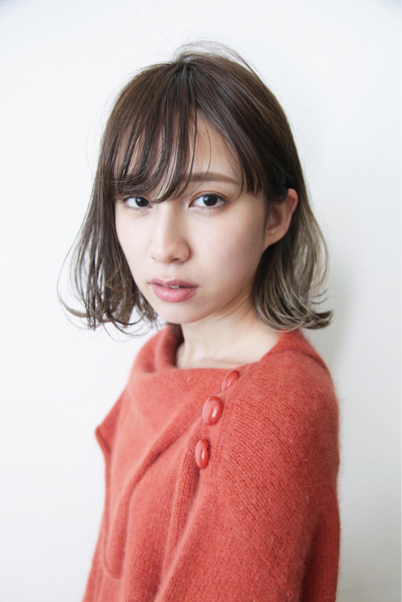 イルミナカラー ボブ デート ナチュラル ヘアスタイルや髪型の写真・画像 | 畑山拓也 / Baco.