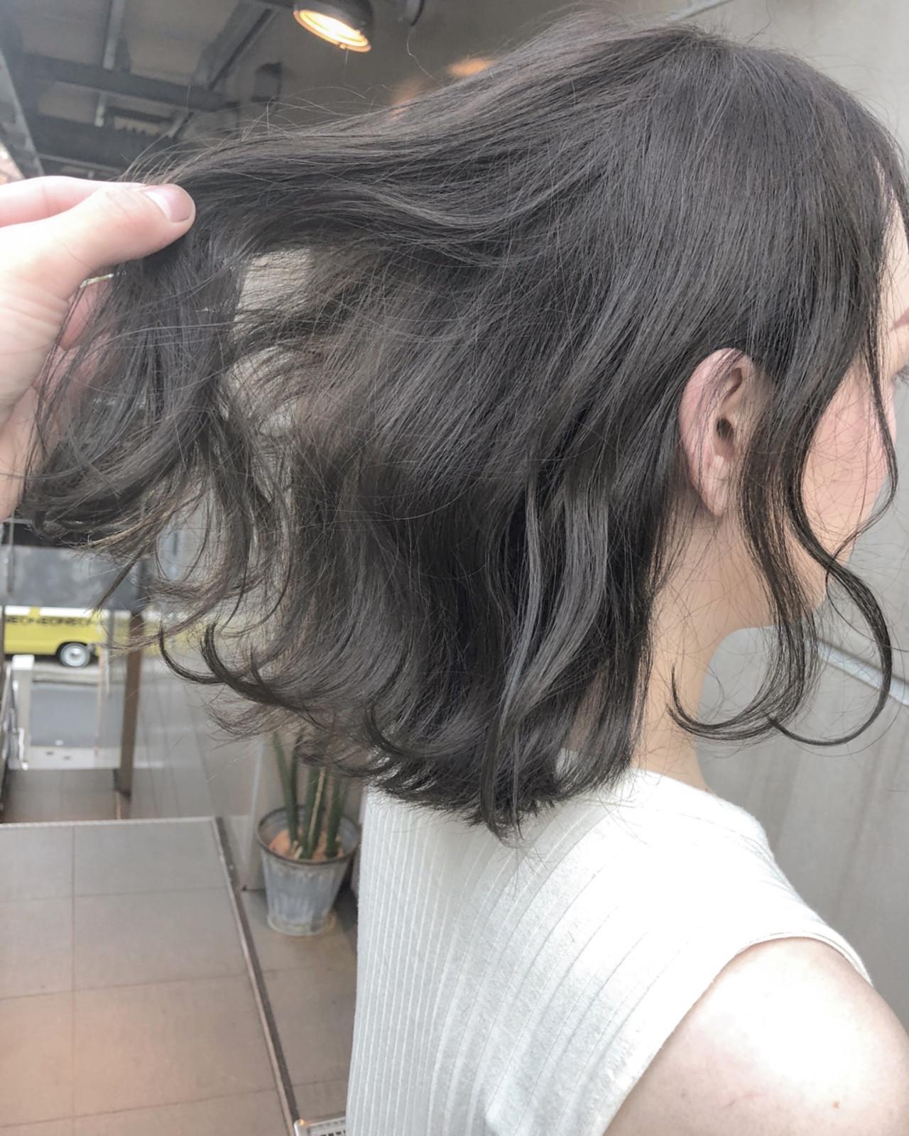 オフィス ボブ ナチュラル ヘアアレンジ ヘアスタイルや髪型の写真・画像 | 北間 寛哉/ KILLA / KILLA 原宿 表参道