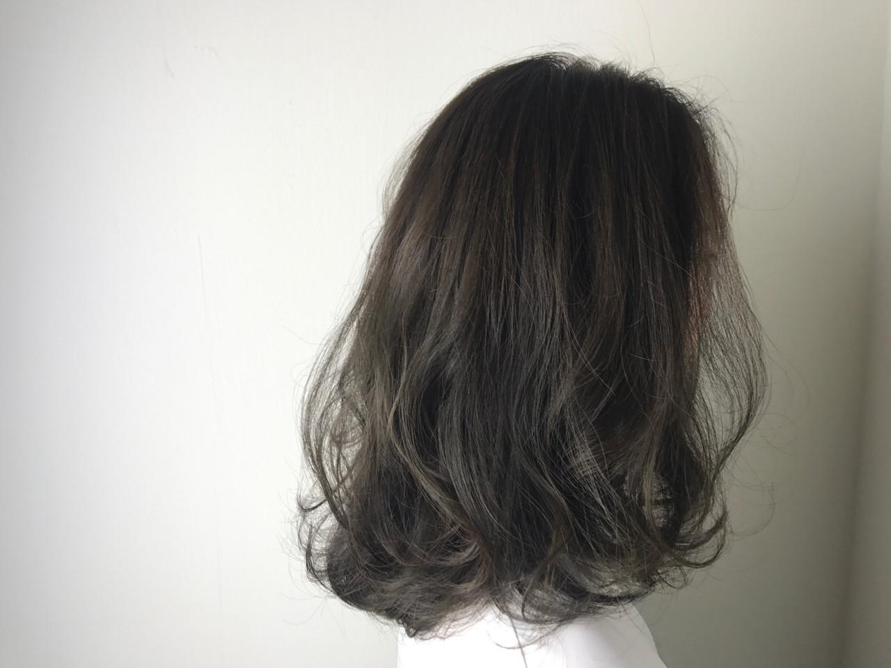 エレガント 外国人風カラー セミロング 上品 ヘアスタイルや髪型の写真・画像 | yama / SHAMPOOHAT