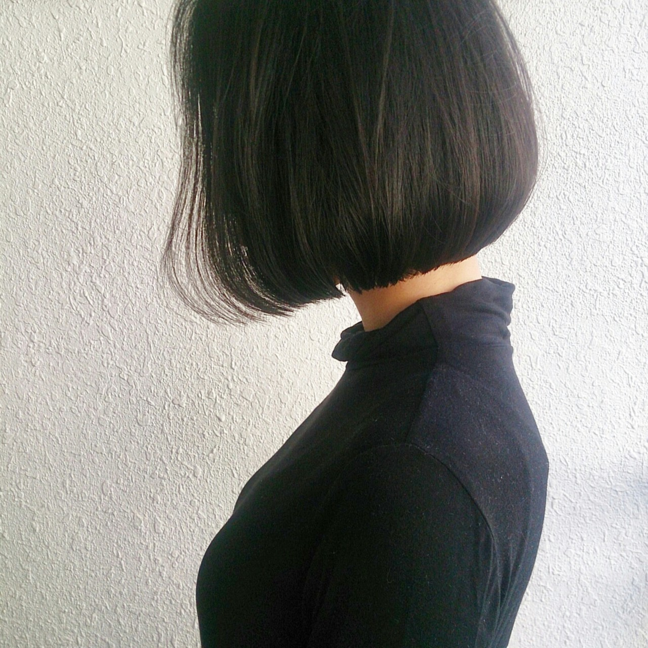 外国人風 大人かわいい ボブ 暗髪 ヘアスタイルや髪型の写真・画像