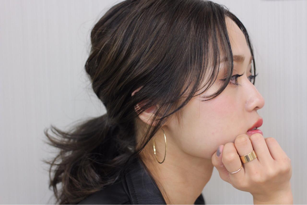 フレンチセピアアッシュ 大人女子 ストリート ミディアム ヘアスタイルや髪型の写真・画像 | エッセンシャル / 鹿児島 / Essential haircare & beauty