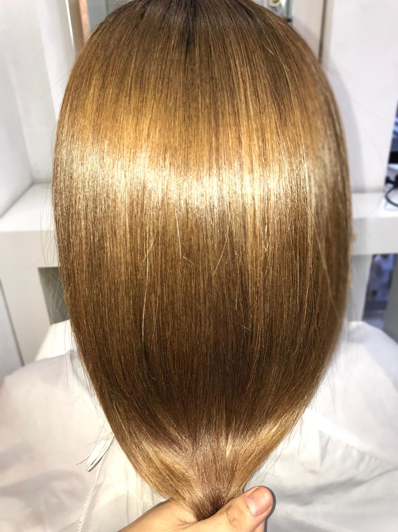 セミロング 美髪 ナチュラル ツヤ髪 ヘアスタイルや髪型の写真・画像 | 大西 正海 / seasons by  marbles