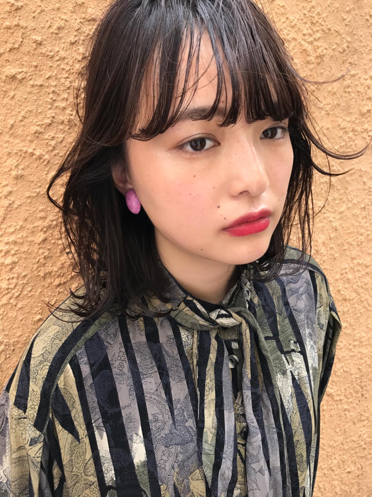 抜け感 束感バング シースルーバング ナチュラル ヘアスタイルや髪型の写真・画像 | 小西敬二郎 / Heartim