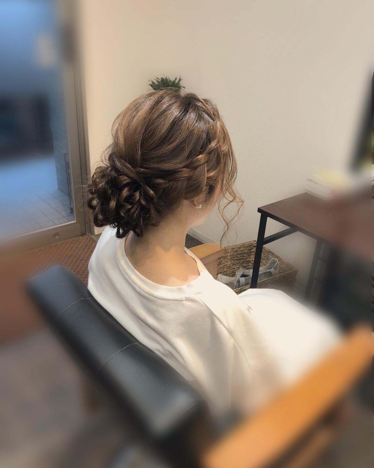 ロング 浴衣ヘア アップスタイル フェミニン ヘアスタイルや髪型の写真・画像