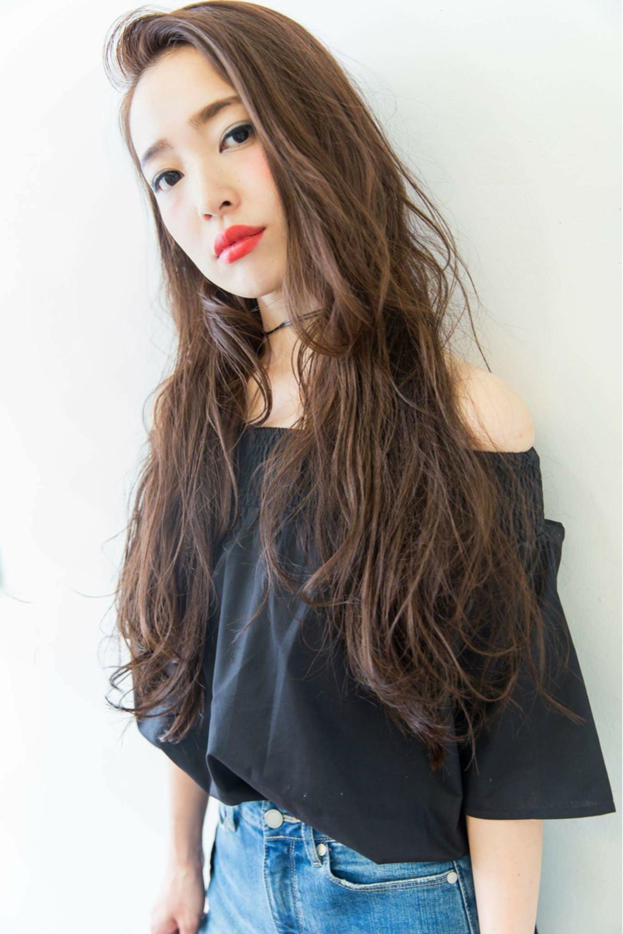 ブラウン 外国人風 ストリート ウェットヘア ヘアスタイルや髪型の写真・画像