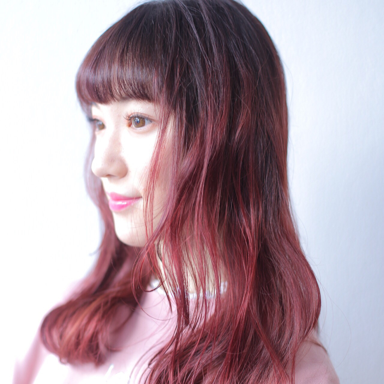 ハイライト ストリート デザイン ピンク ヘアスタイルや髪型の写真・画像