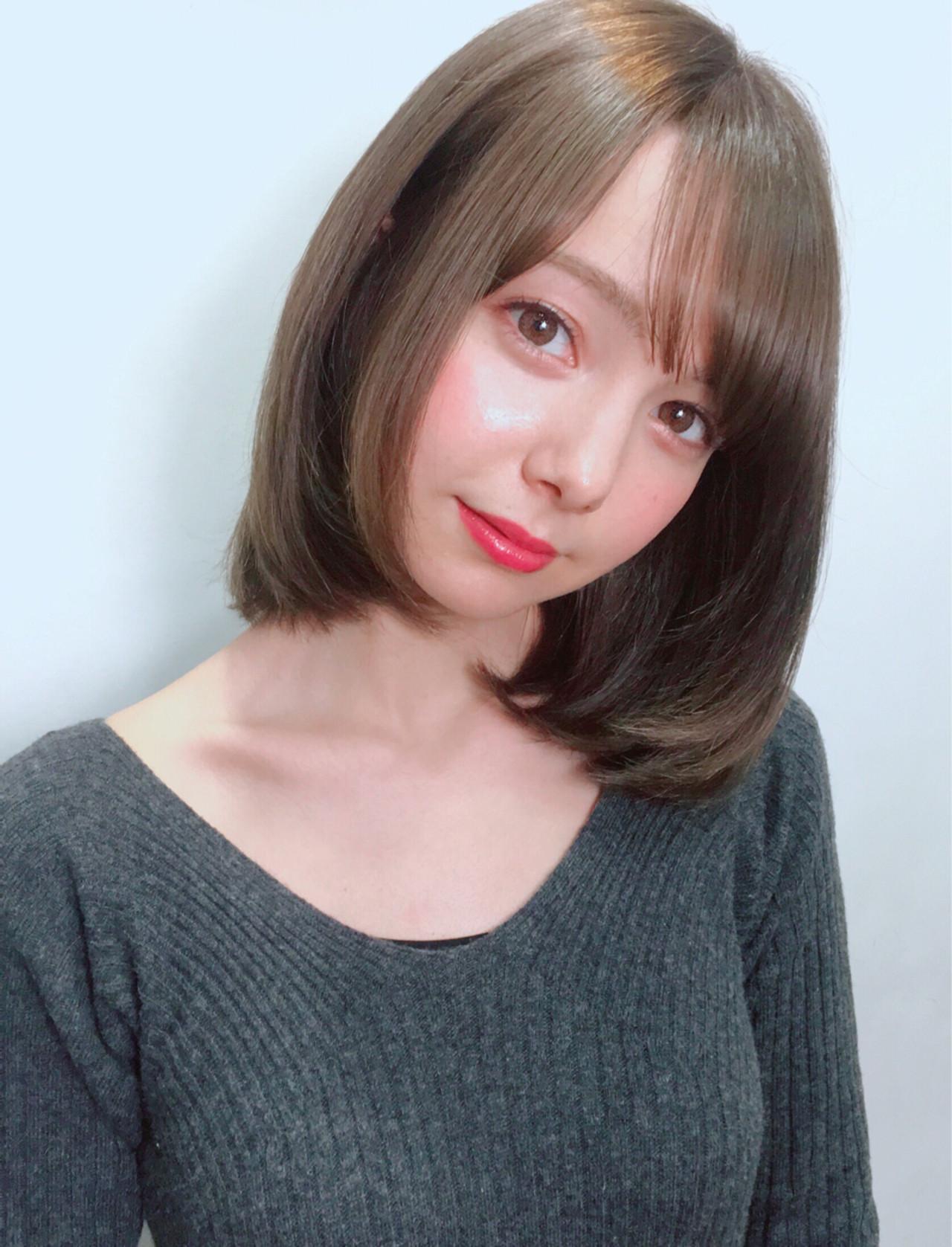 フェミニン セミロング ヘアスタイルや髪型の写真・画像 | 齋藤純也 / L.O.G by U-realm