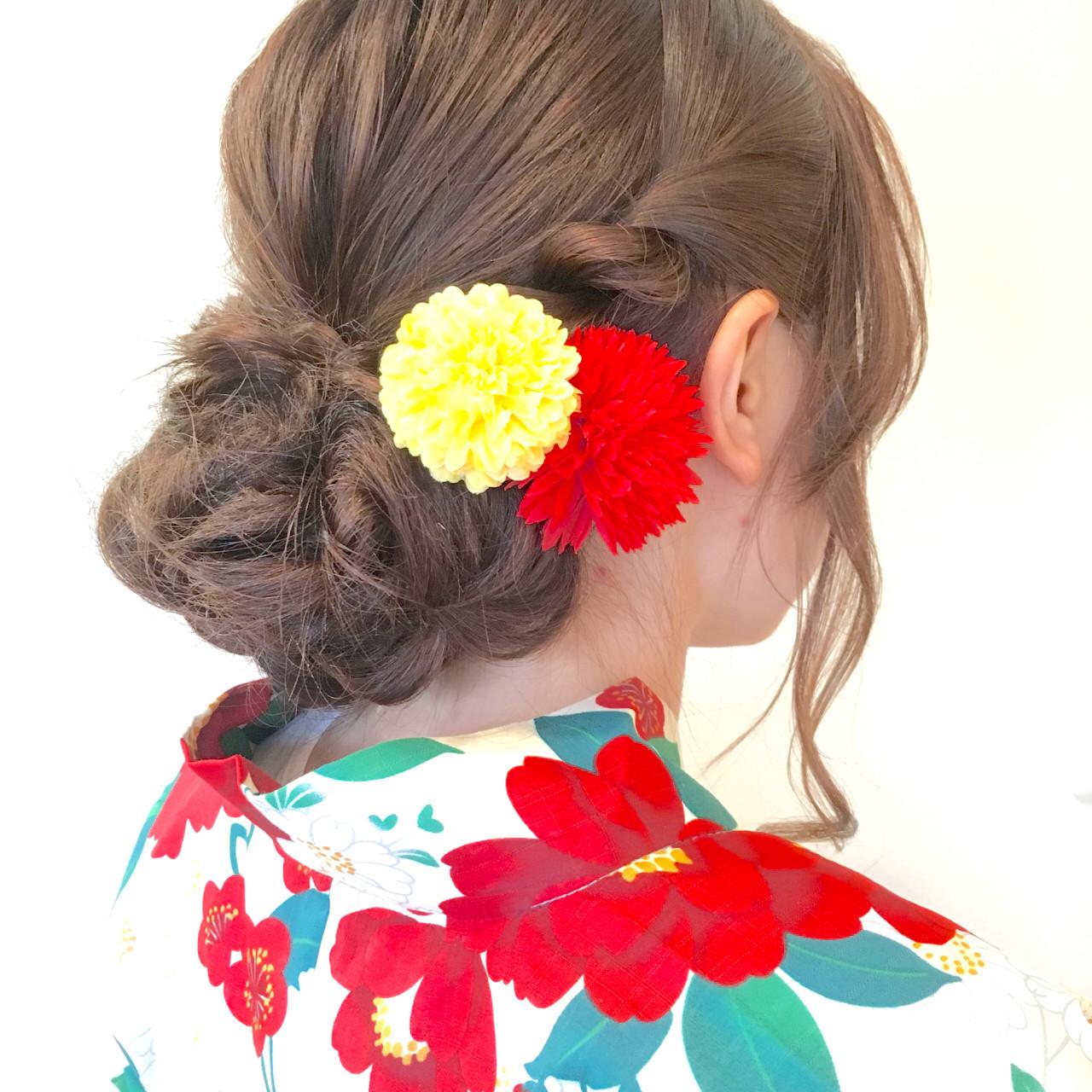 ゆるふわ 簡単ヘアアレンジ ロング ショート ヘアスタイルや髪型の写真・画像