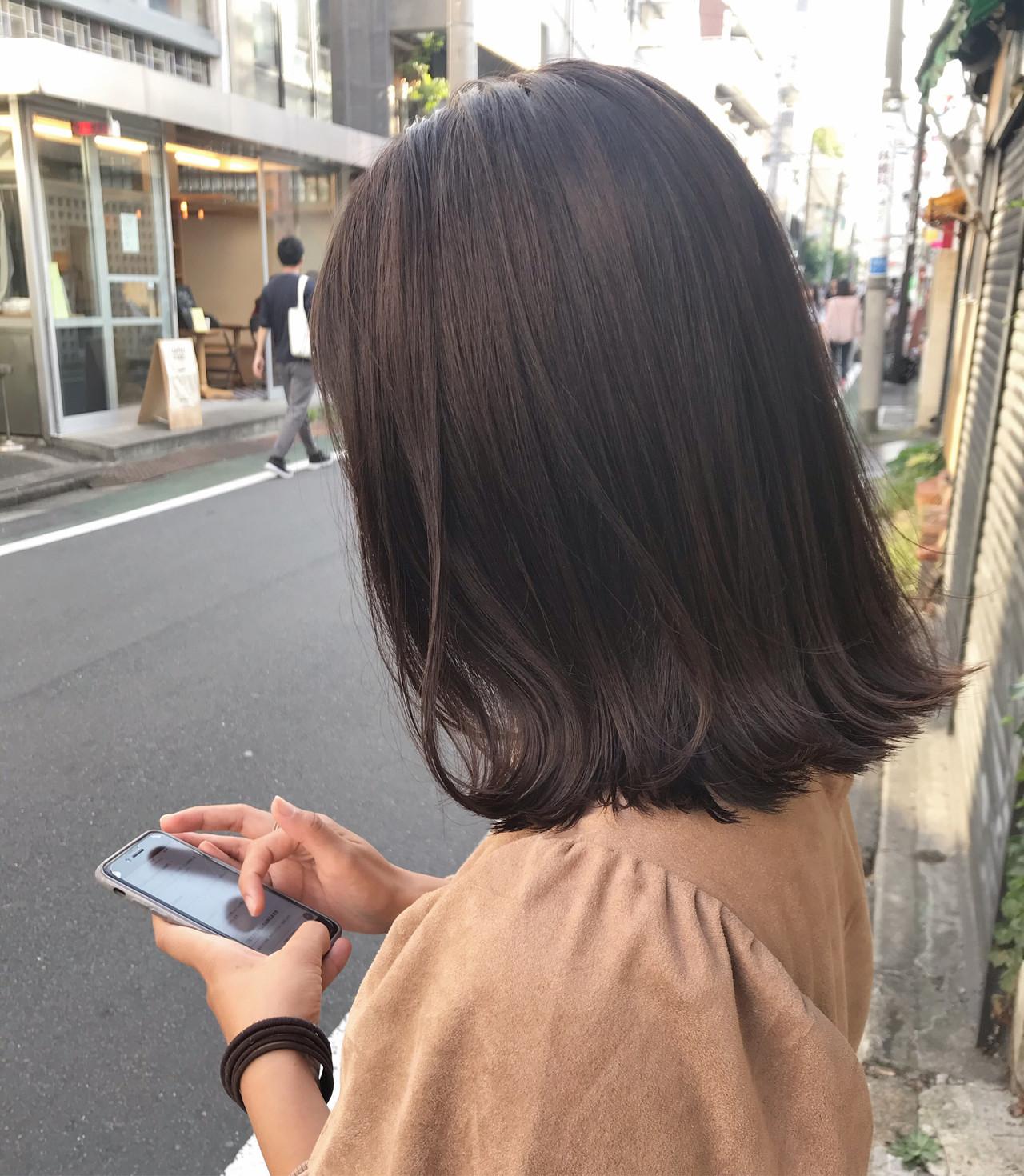 ボブ 暗髪 ナチュラル 透明感カラー ヘアスタイルや髪型の写真・画像 | 槙山ユースケ/トップスタイリスト / chobii