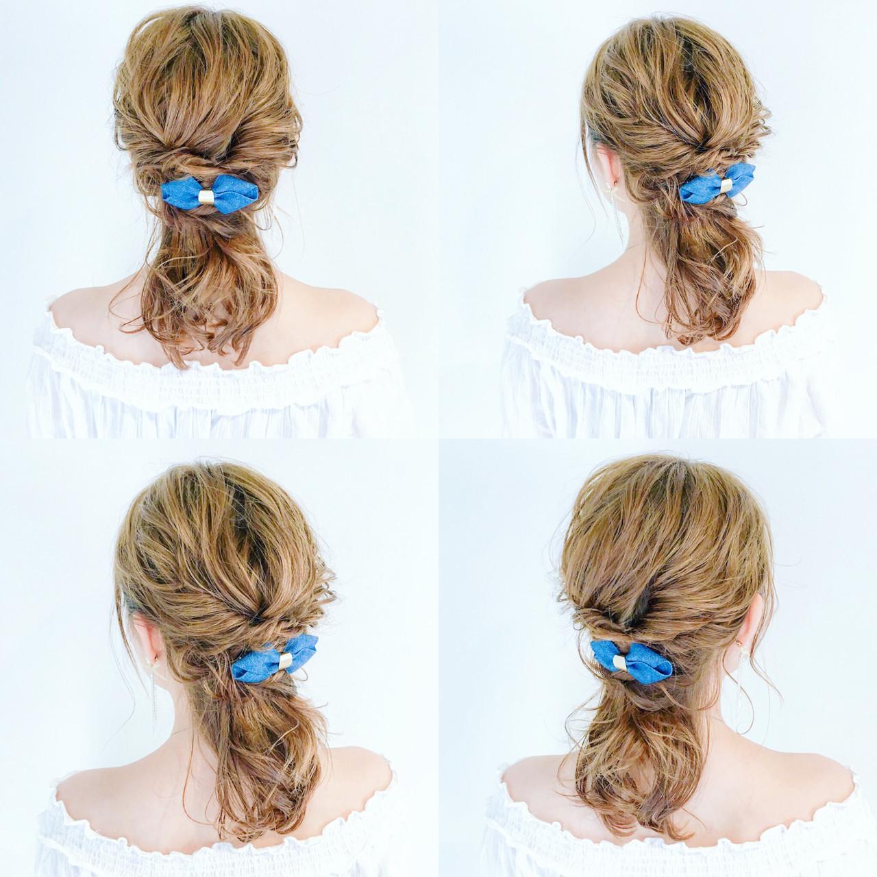 デート セミロング リラックス 女子会 ヘアスタイルや髪型の写真・画像