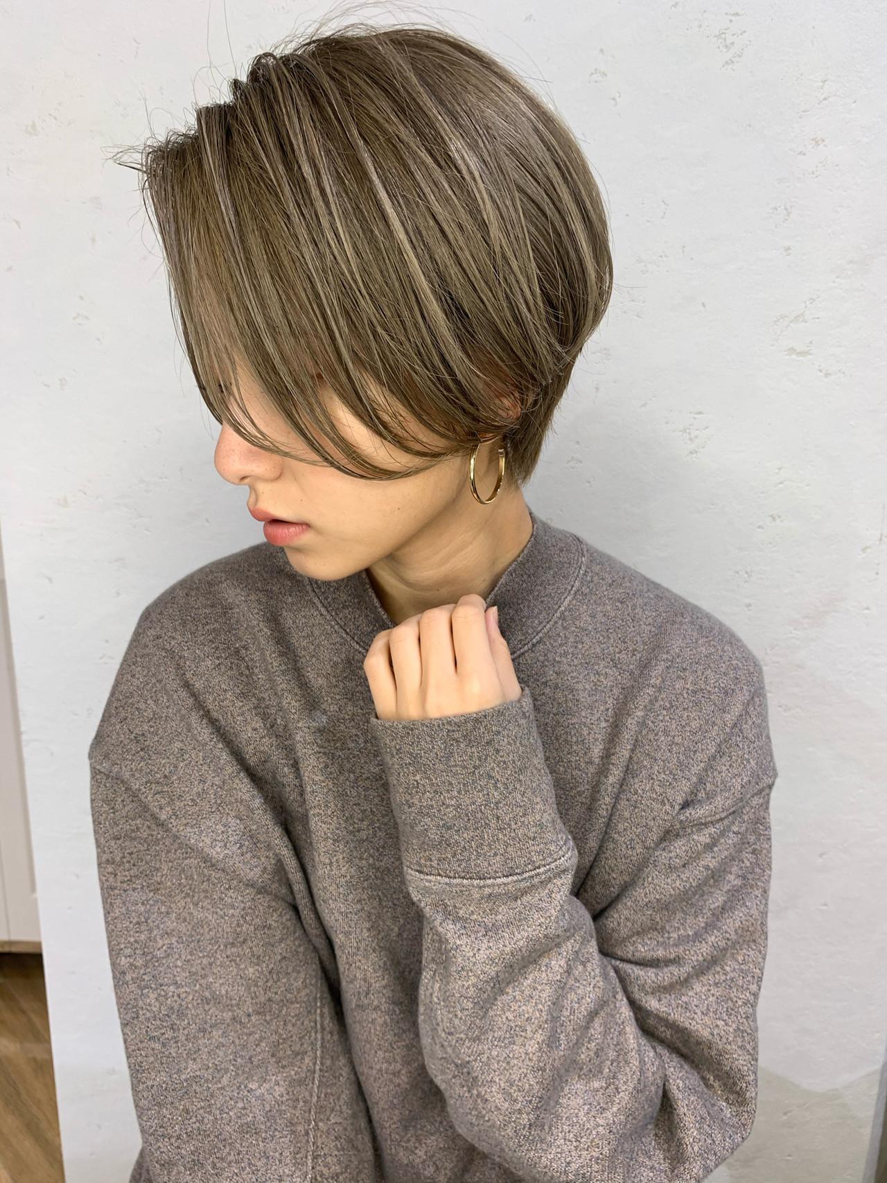 小顔ヘア ナチュラル 大人可愛い ヘアスタイルや髪型の写真・画像 | 山口 健太 / Lond ange
