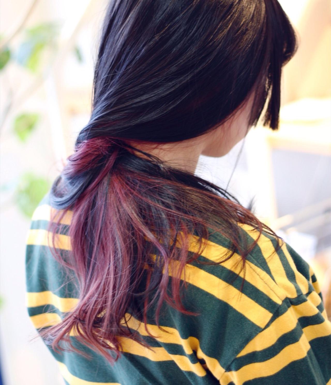 ピンク ストリート 姫カット かわいい ヘアスタイルや髪型の写真・画像