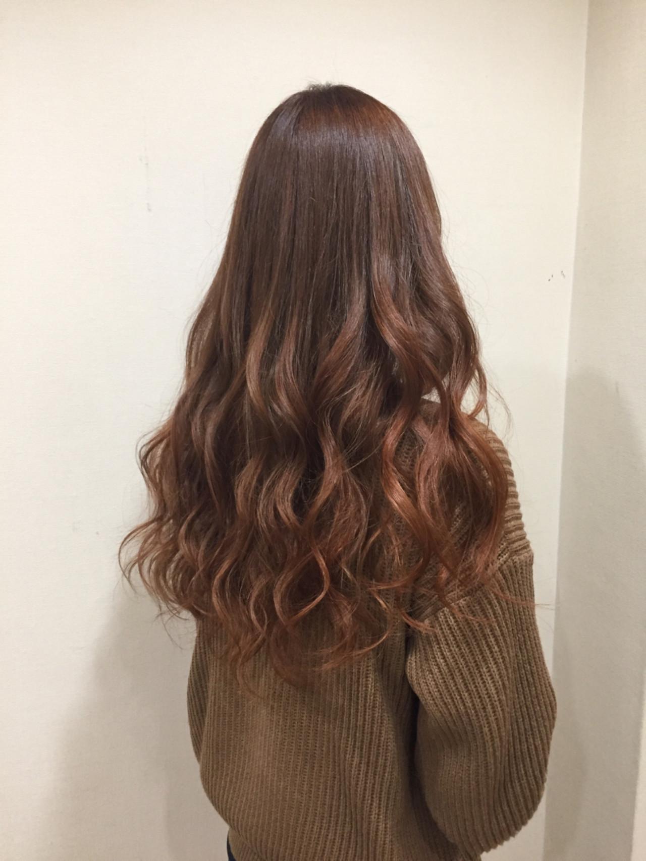 外国人風カラー カラーバター グラデーションカラー ロング ヘアスタイルや髪型の写真・画像