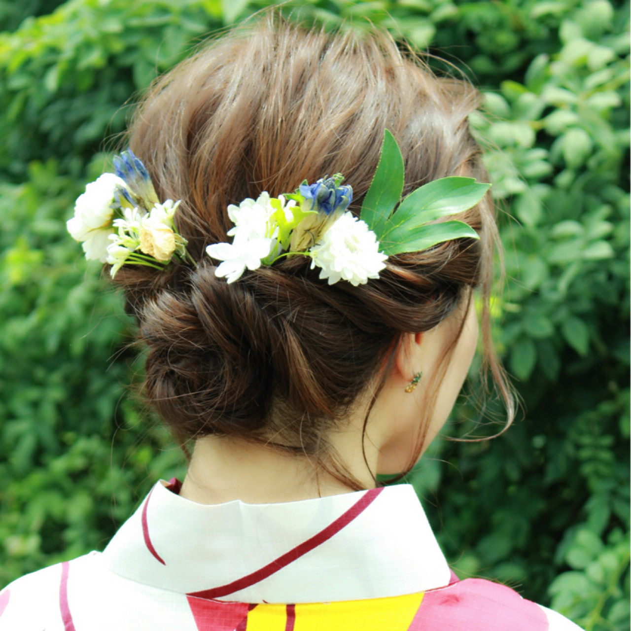 ヘアアレンジ フェミニン ナチュラル お祭り ヘアスタイルや髪型の写真・画像