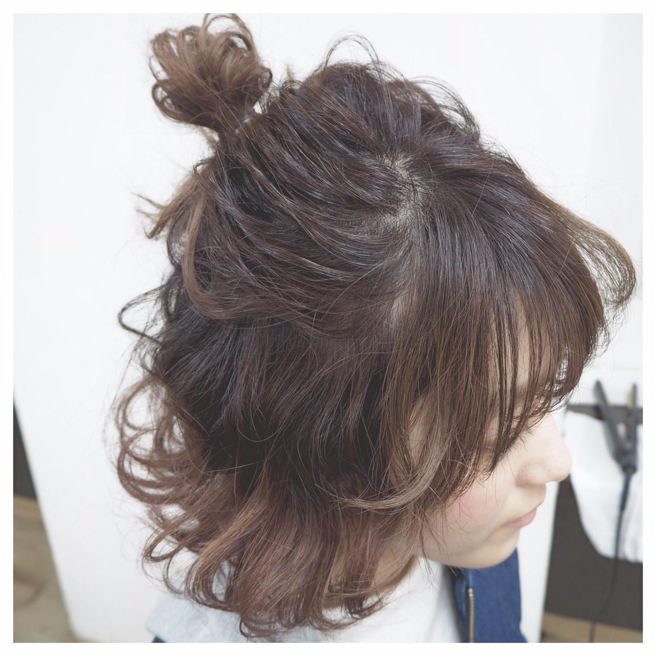 ヘアアレンジ ボブ ショート モテ髪 ヘアスタイルや髪型の写真・画像