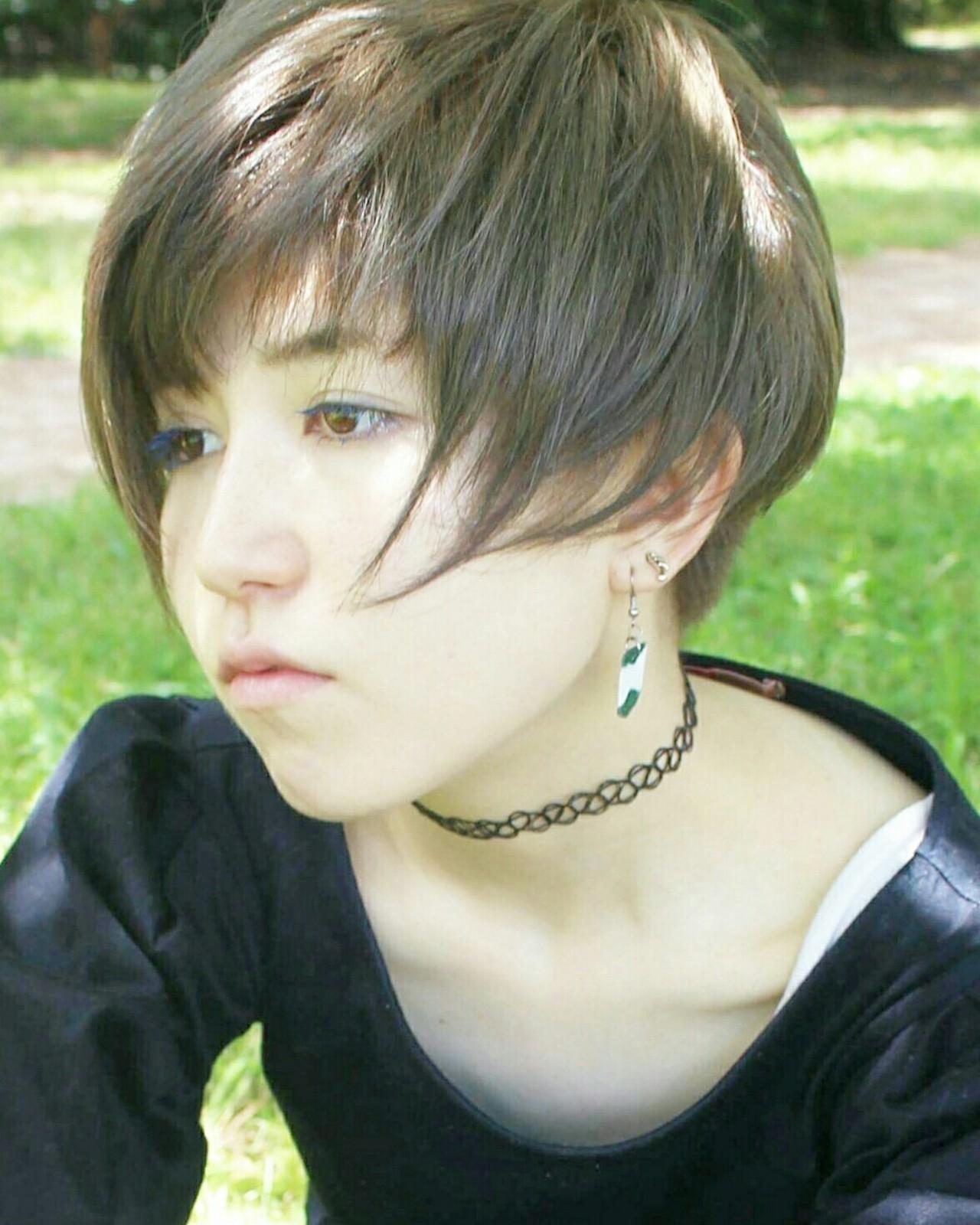 フェミニン ショートボブ アンニュイ ベリーショート ヘアスタイルや髪型の写真・画像
