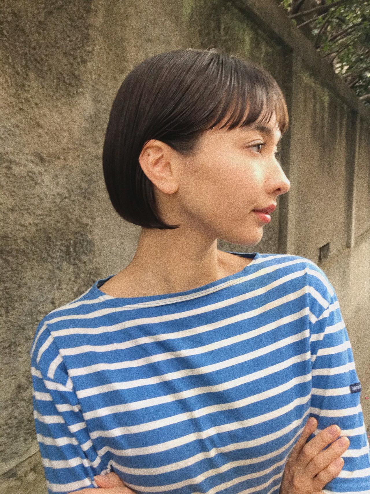 輪郭で似合わせ♡40代女性におすすめのショートボブカタログ